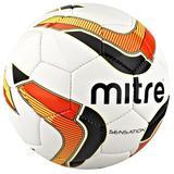 MITRE Sensation 18P  [BB8018WD6] - Putih Hitam Orange - Bola Sepak / Soccer Ball